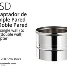 Adaptador a tubo DP 150 mm Inox