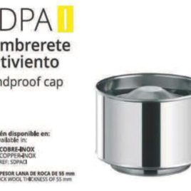 Sombrerete DP Inox 150 mm Antirrevoco